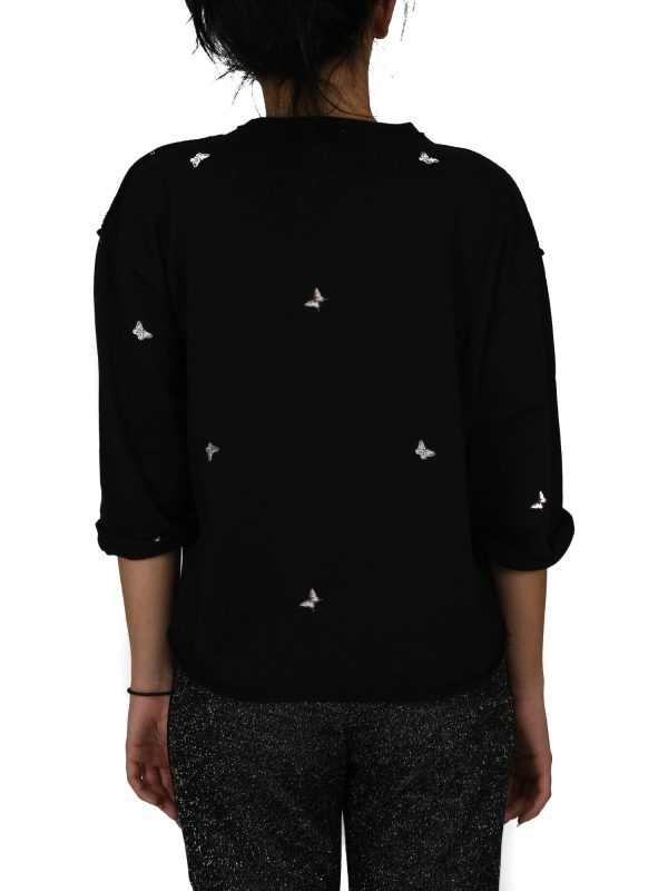 JUICY COUTURE ΦΟΥΤΕΡ EMBROIDERED TERRY ΜΑΥΡΟ