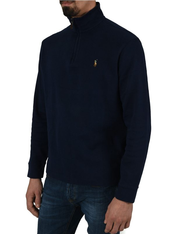 RALPH LAUREN ΦΟΥΤΕΡ HALFZIP ESTATE RIB ΜΠΛΕ