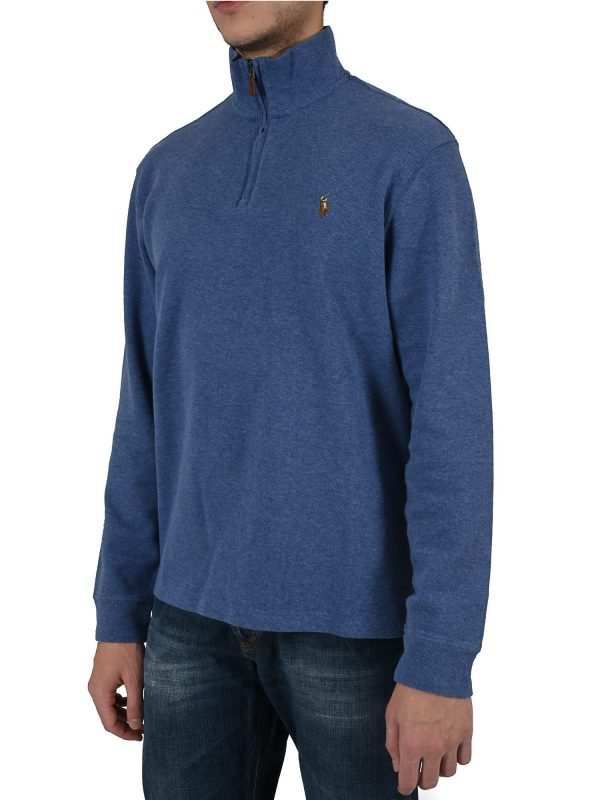 RALPH LAUREN ΦΟΥΤΕΡ HALFZIP ESTATE RIB ΣΙΕΛ