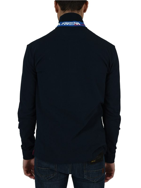 LA MARTINA POLO SLIM FIT STRETCH  ΜΠΛΕ