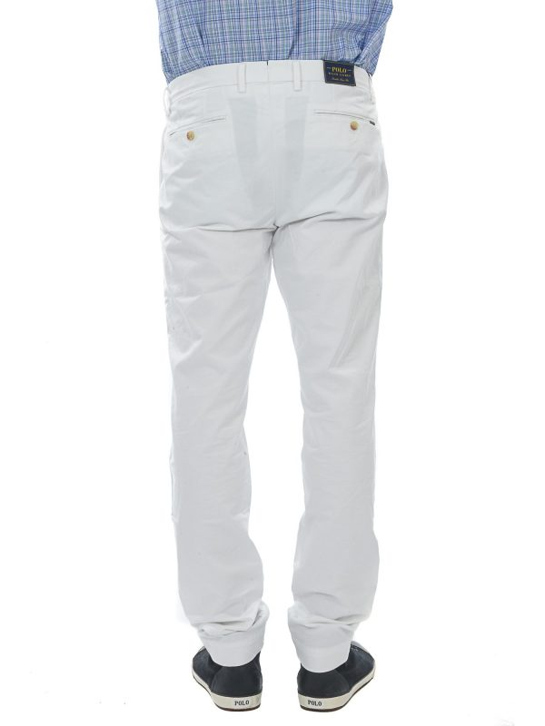 RALPH LAUREN ΠΑΝΤΕΛΟΝΙ CHINO STRETCH SLIM FIT ΛΕΥΚΟ
