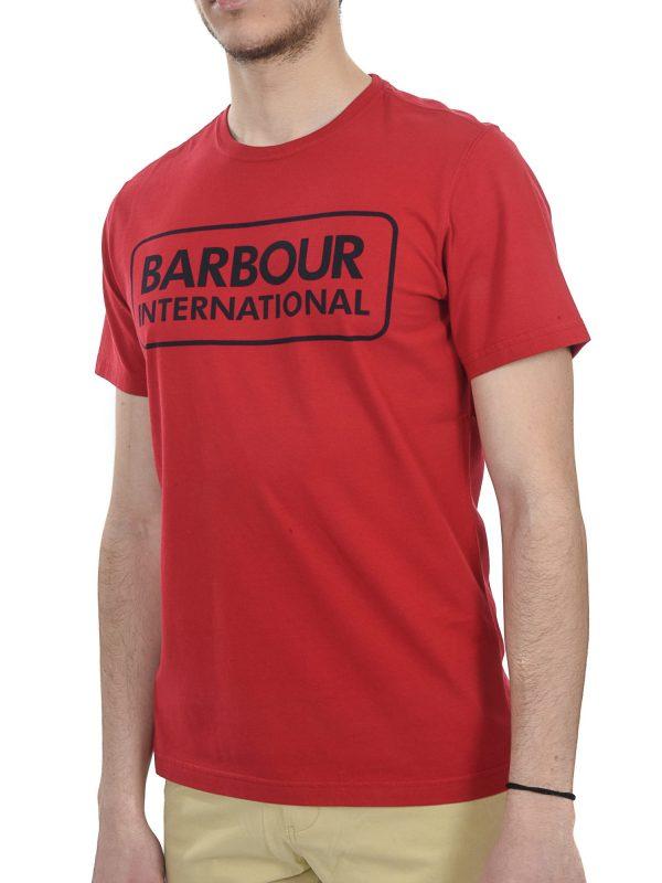 BARBOUR INTERNATIONAL T-SHIRT ESSENTIAL LARGE LOGO ΚΟΚΚΙΝΟ
