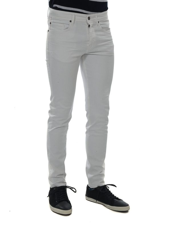 BOSS CASUAL ΠΑΝΤΕΛΟΝΙ JEANS TAPERED FIT ORANGE 90-C ΛΕΥΚΟ
