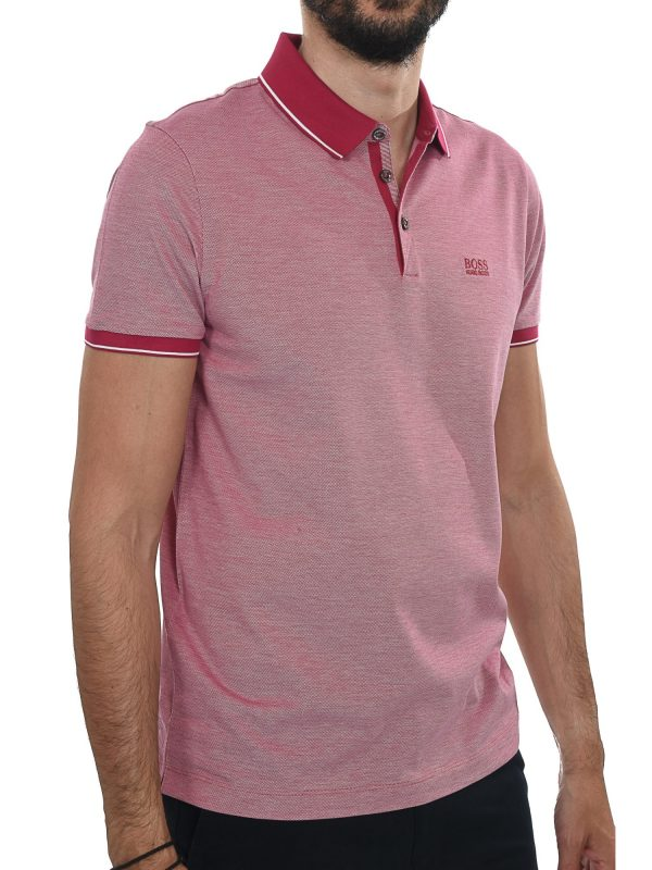BOSS BUSINESS POLO KM PROUT10 REGULAR FIT MERCERISED ΜΠΟΡΝΤΩ