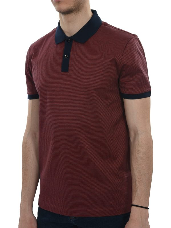 BOSS BUSINESS  POLO KM PHILLIPSON27 SLIM FIT MERCERISED  ΜΠΟΡΝΤΩ