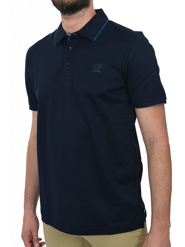 PAUL&SHARK POLO KM DOUBLE MERCERIZED ΜΠΛΕ