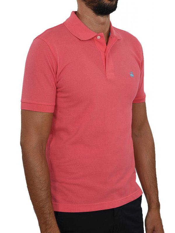 BROOKS BROTHERS POLO KM SLIM FIT ΦΟΥΞΙΑ