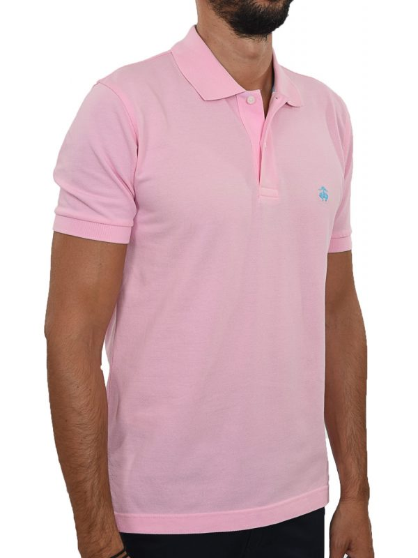 BROOKS BROTHERS POLO KM SLIM FIT ΡΟΖ