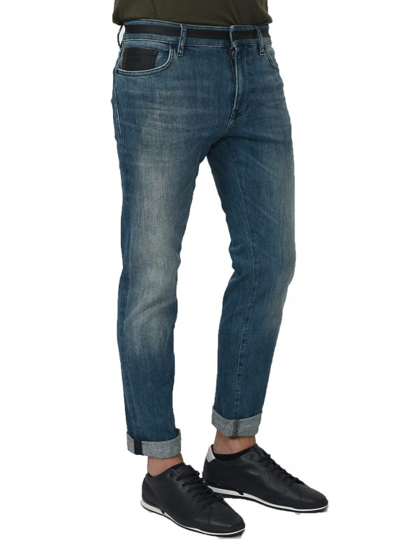 BOSS CASUAL ΠΑΝΤΕΛΟΝΙ JEANS MAINE BC-C PROJECT ΜΠΛΕ