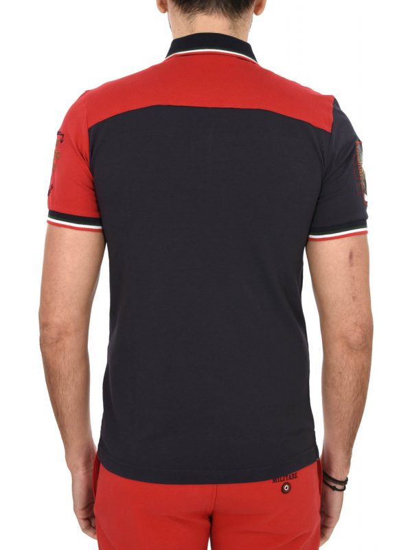 34dffa4095 ... AERONAUTICA MILITARE POLO REGULAR FIT LOGO VEG 2017 ΛΕΥΚΟ-ΚΟΚΚΙΝΟ-ΜΠΛΕ- ΓΚΡΙ
