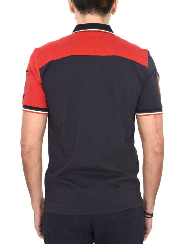 8738250574 ... AERONAUTICA MILITARE POLO REGULAR FIT LOGO VEG 2017 ΚΟΚΚΙΝΟ-ΓΚΡΙ-ΜΠΛΕ- ΛΕΥΚΟ