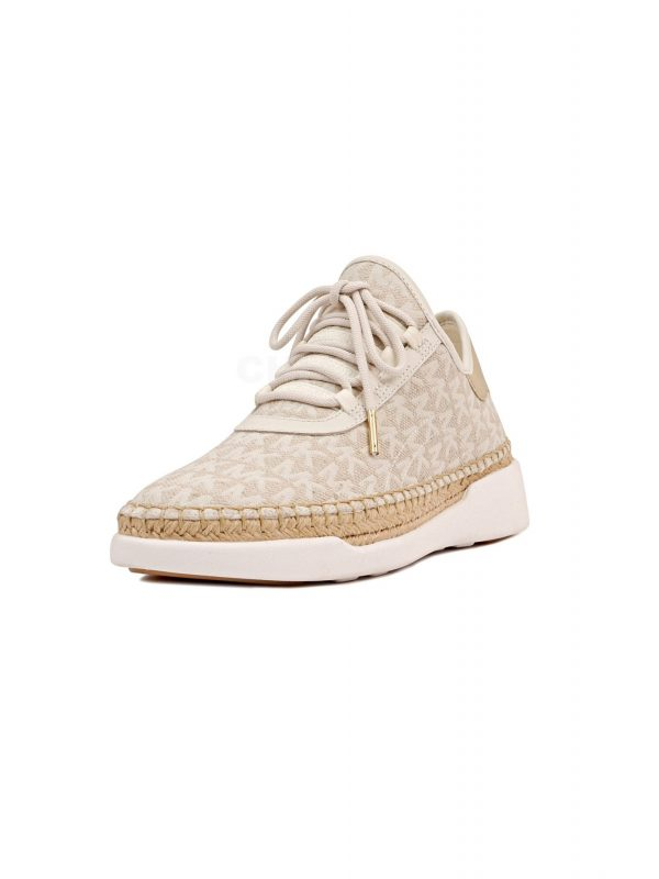 MICHAEL KORS ΠΑΠΟΥΤΣΙΑ SNEAKERS FINCH FINCH LACE UP ΜΠΕΖ/ΧΡΥΣΟ