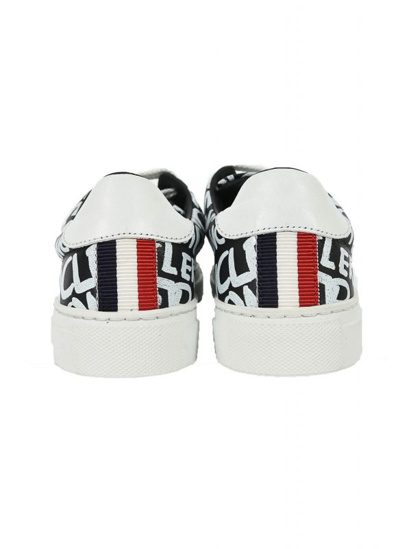 MONCLER ΠΑΠΟΥΤΣΙΑ SNEAKERS ALLOVER PRINT LOGO ΜΑΥΡΟ