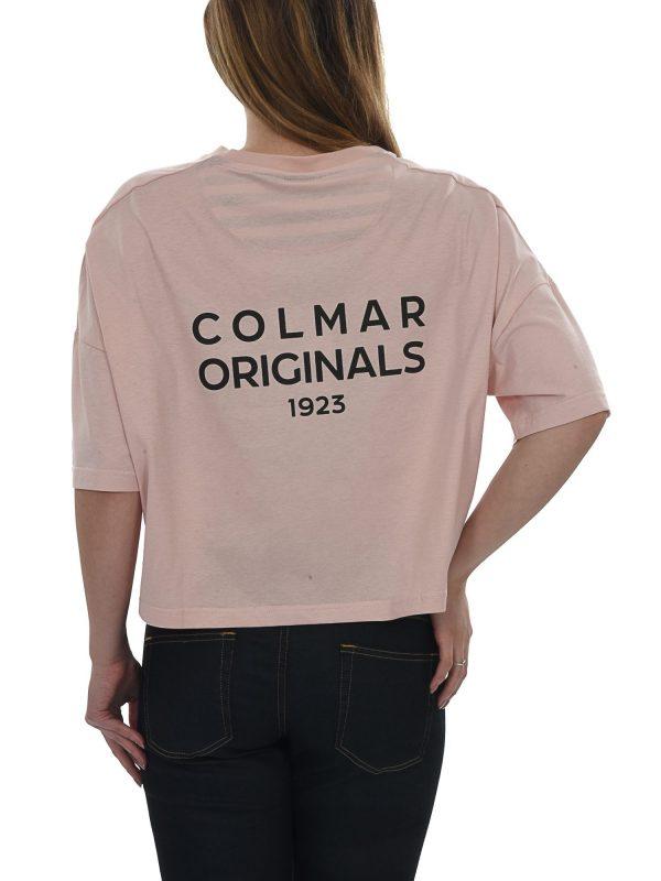 COLMAR T-SHIRT KM ΚΟΝΤΟ COLMAR ORIGINALS 1923 ΡΟΖ