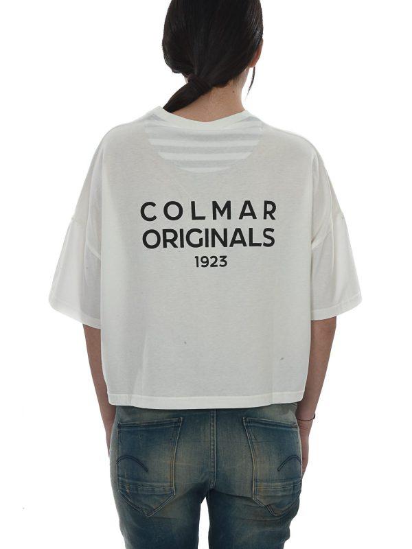 COLMAR T-SHIRT KM ΚΟΝΤΟ COLMAR ORIGINALS 1923 ΛΕΥΚΟ