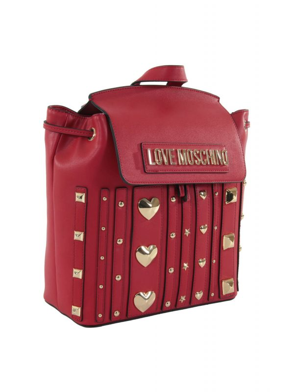 LOVE MOSCHINO ΤΣΑΝΤΑ BACKPACK ΤΡΟΥΚΣ ΜΠΡΟΣΤΑ ΚΟΚΚΙΝΟ
