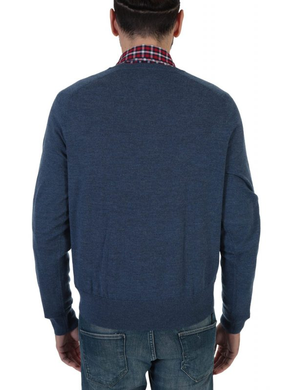 BROOKS BROTHERS ΠΛΕΚΤΟ VNECK RED FLEECE ΡΑΦ ΜΠΛΕ