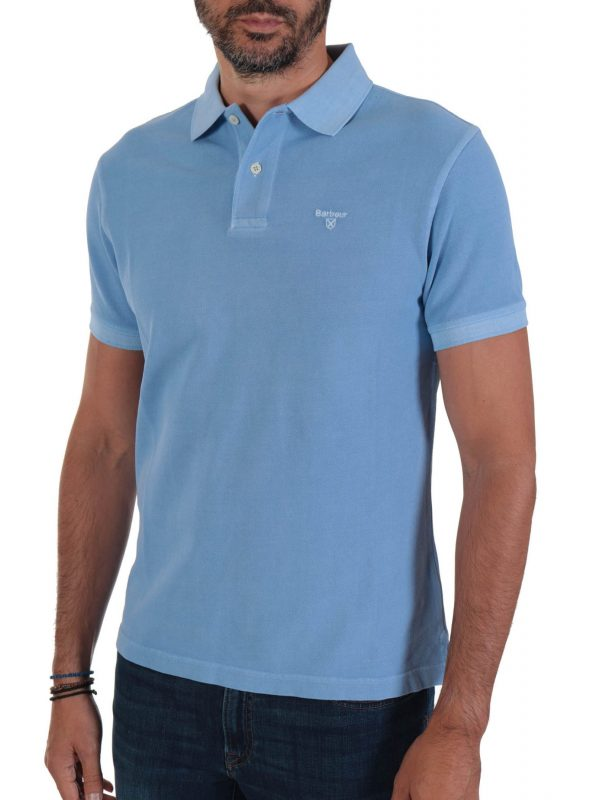 BARBOUR POLO WASHED ΣΙΕΛ
