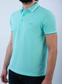 BOSS GREEN POLO ΚΜ PADDY REGULAR FIT ΤΥΡΚΟΥΑΖ