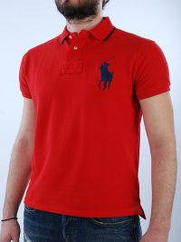 RALPH LAUREN POLO KM CUSTOM FIT BIG PONY ΚΟΚΚΙΝΟ