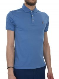 RALPH LAUREN POLO KM SLIM FIT ΡΑΦ ΜΠΛΕ