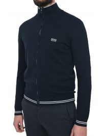 BOSS ATHLEISURE ΠΛΕΚΤΟ FULL ZIP ZOMEX W18 ΜΠΛΕ