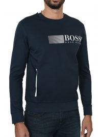 BOSS ATHLEISURE T-SHIRT MM POCKETS SALTECH ΜΠΛΕ