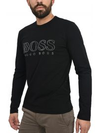 BOSS ATHLEISURE T-SHIRT  TOGN US ΜΑΥΡΟ