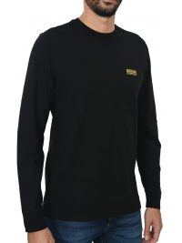 BARBOUR T-SHIRT MM LOGO ΜΑΥΡΟ