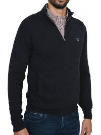 GANT MAN ΠΛΕΚΤΟ FULLZIP COTTON WOOL CARDIGAN ΜΠΛΕ