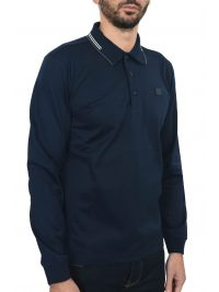 PAUL&SHARK POLO MM SHARK FIT DOUBLE MERCERIZED ΜΠΛΕ