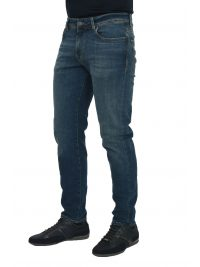 SELECTED ΠΑΝΤΕΛΟΝΙ JEANS STRAIGHT FIT STRETCH DENIM ΜΠΛΕ