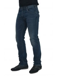 EMPORIO ARMANI ΠΑΝΤΕΛΟΝΙ JEANS J45 REGULAR FIT BLACK DETAILS ΜΠΛΕ