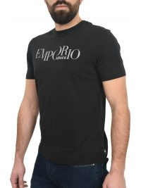 EMPORIO ARMANI T-SHIRT KM LOGO  ΜΑΥΡΟ
