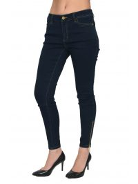 MICHAEL KORS ΠΑΝΤΕΛΟΝΙ JEANS SUPER SKINNY ZIP DENIM ΜΠΛΕ