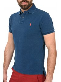 RALPH LAUREN POLO CUSTOM SLIM FIT ΠΛΥΜΕΝΟ DENIM ΜΠΛΕ