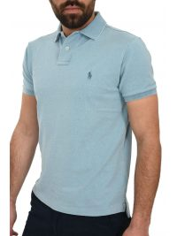 RALPH LAUREN POLO CUSTOM SLIM FIT ΠΛΥΜΕΝΟ DENIM ΣΙΕΛ