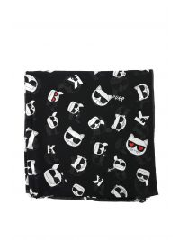 KARL LAGERFELD ΦΟΥΛΑΡΙ ALLOVER PRINT KARL & CHUPETTE ΜΑΥΡΟ