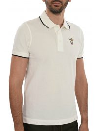 AERONAUTICA MILITARE POLO REGULAR FIT LOGO ΥΠΟΛΕΥΚΟ