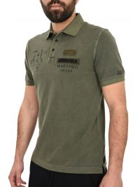 AERONAUTICA MILITARE POLO REGULAR FIT LOGO WARTHOG ΧΑΚΙ