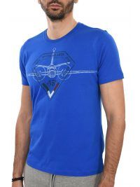 AERONAUTICA MILITARE T-SHIRT REGULAR FIT  BR-1150 ΡΟΥΑ ΜΠΛΕ