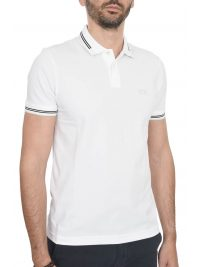 BOSS ATHLEISURE POLO SLIM FIT PAUL STRETCH ΛΕΥΚΟ