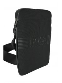 BOSS BUSINESS ΤΣΑΝΤΑΚΙ CROSSBODY PIXEL S ZIP ENV ΜΑΥΡΟ