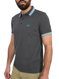 BOSS ATHLEISURE POLO ΚΜ PADDY REGULAR FIT ΑΝΘΡΑΚΙ