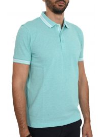 BOSS ATHLEISURE POLO ΚΜ PADDY REGULAR FIT ΒΕΡΑΜΑΝ