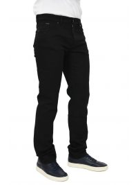 BOSS BUSINESS ΠΑΝΤΕΛΟΝΙ JEANS MAINE3 REGULAR  FIT CANDIANI DENIM ΜΑΥΡΟ