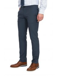 BOSS BUSINESS ΠΑΝΤΕΛΟΝΙ CHINO TAPERED SLIM FIT STRETCH KAITO3-TRAVEL2 ΜΠΛΕ