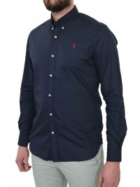 U.S. POLO ASSN. ΠΟΥΚΑΜΙΣΟ SLIM FIT JAXON BD ΜΠΛΕ