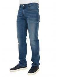 TRUSSARDI JEANS ΠΑΝΤΕΛΟΝΙ JEANS 380 ICON IMPERIAL  ΜΠΛΕ
