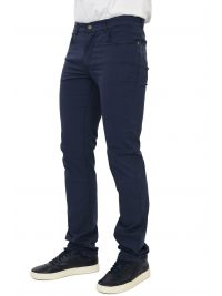 TRUSSARDI JEANS ΠΑΝΤΕΛΟΝΙ 5ΤΣΕΠΟ 380 ICON GARMENT DYED ΜΠΛΕ